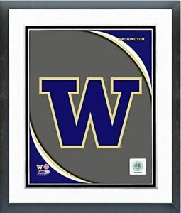 "Washington Huskies Team Logo Composite Photo (Size: 12.5"" x 15.5"") Framed"