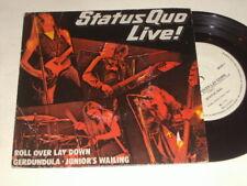 "'STATUS QUO LIVE' 1975 Australian 7"" Single - Roll Over Lay Down, Gerdundula"