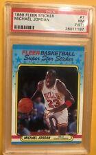 1988 Fleer Sticker Michael Jordan PSA 7