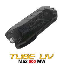 NiteCore TUBE UV USB Rechargeable Ultraviolet Money Detector Keychain Flashlight