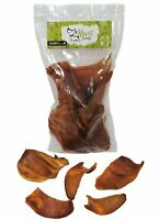 Dog Bones Premium Pork Treats (Half Ears) (8 Oz Bag)  Healthy Treats