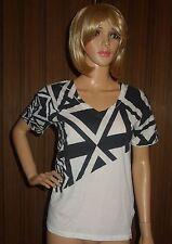 KARL LAGERFELD BLACK WHITE T-shirt Authentic SZ SMALL -NEW