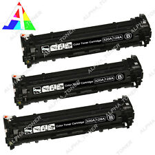 3X CE320A 128A Black Toner Cartridge For HP Color Laserjet Pro CM1415fnw CP1525