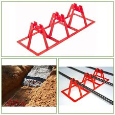 REBAR CHAIR 3-BAR SUPPORT Fastening Concrete Rod Sturdy Holder Clearance 30-PACK