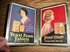 VINTAGE 1920'S ADVERTISING YEAST FOAM TABLETS AND YEAST FOAM MALTED MILK MENUE