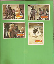 #D318. #7. FOUR  SCANLENS 1975 PLANET OF THE APES TV CARDS - #30, 31, 35, 39
