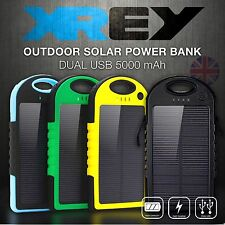 5000mAh Solar Charger USB Power iPhone Samsung Bank Mobile External Battery