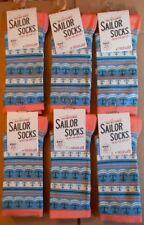6 Pares de Calcetines de Bambú para mujer Sailor Seasalt Talla 3-8 Reino Unido Premium Stripe Poseidon