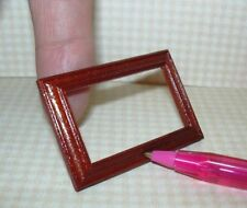 Miniature Handsome Rectangular Picture Frame MAHOGANY  DOLLHOUSE Miniatures 1:12