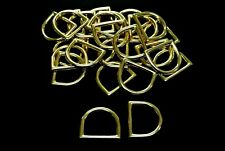 25mm Solid Brass D-Rings Horse Reigns Leather Straps Hardware Dog Leads Collars