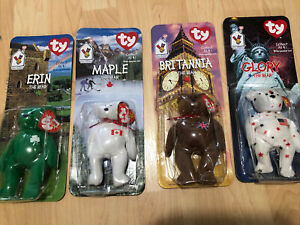Complete Set Of 4 TY Beanie Babies -McDonalds -1997 -MINT - All With Errors