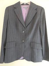 Ann Taylor Grey w/Pin Stripes Blazer Suit Business Jacket Sz 8 NEW