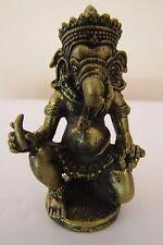 Lord OM Ganesh Ganapati Ganesha Hinduism Brass statue Amulet