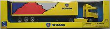NEWRAY-SCANIA r124/400 conteneur-Truck/Camion/remorque jaune 1:43 Nouveau/Neuf dans sa boîte
