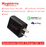 black Qualcomm Quick Charge QC 3.0 18W AU Universal Super Fast USB Wall Charger