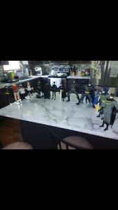 """LOT OF 13 RARE APPLAUSE BATMAN Figures with Stands 1980-1990s DC Comics 12"""""""