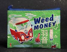 Blue Q Weed Money zipper Coin Purse, pot, marijuana CLICK FOR SHIPPING PROMOTION