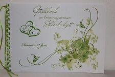 Gästebuch zur Silberhochzeit , apfelgrün