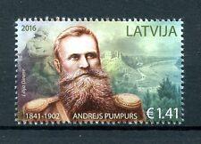 Latvia 2016 MNH Andrejs Pumpurs 1v Set Poets Writers Stamps