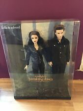 BELLA & EDWARD TWILIGHT SAGA BARBIE DOLLS BREAKING DAWN PART 2 RARE PINK LABEL