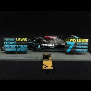 Lewis Hamilton 2020 7 Time F1 Champ Ed. Mercedes-AMG F1 #44 W11 EQ w/ P IT BOARD