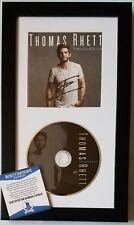 THOMAS RHETT SIGNED CD DISPLAY BECKETT BAS COA COUNTRY MUSIC ALBUM AUTOGRAPHED