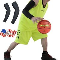 1 Pair Black Cycling Bicycle Arm Warmers Cuff Sleeve Cover UV Sun Protection