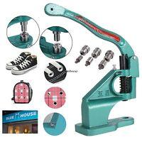 Hand Grommet Machine 3 Dies 900 Grommets Eyelet Manual Press Tool Banner