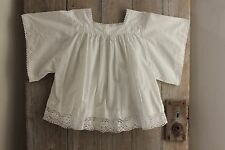 Vintage French lace woman's clothing blouse shirt white Choir ?  work wear old
