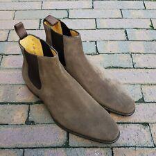 Carlos Santos Style 9517 Chelsea Boot - Brown Suede