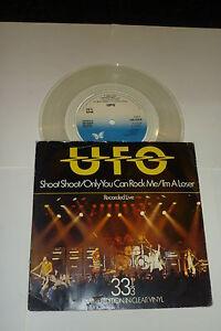 "UFO - Shoot Shoot - 1979 UK limited edition Chrysalis label CLEAR VINYL 7"" Vinyl"