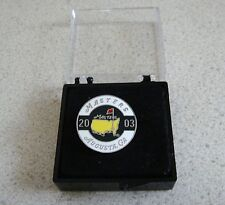 U.S. MASTERS 2003  WON BY MIKE WEIR  STEMMED GOLF BALL MARKER & CASE