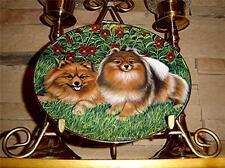 Danbury Mint Pomeranians Dog Puppy Pretty Poms Barbara Higgins Bond Plate