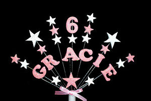 Personalised star name, age  custom Birthday Cake Topper/ decoration