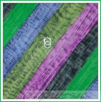 BonEful Fabric FQ Cotton Quilt Green Blue Gray Purple Polka Dot Stripe Tone Girl