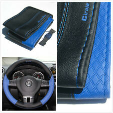 steering wheel wrap blue cover pvc leather DIY stitch new 47020A