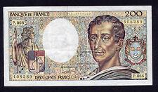 200 FRANCS MONTESQUIEU ANNEE 1989