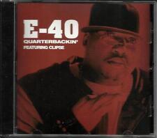 E 40 w/ CLIPSE Quarterbackin INSTRUMENTAL & CLEAN PROMO RADIO DJ CD Single E-40