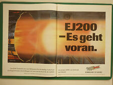 6/1990 PUB EUROJET EUROPEAN MILITARY ENGINE CONSORTIUM EJ200 ENGINE GERMAN AD