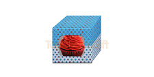2 4 6 8 Blue Cupcake Cup Cake Muffin Box Clear Window & removable insert