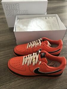 New Authentic Nike By You Air Force 1 Low Orange Men's Size 12