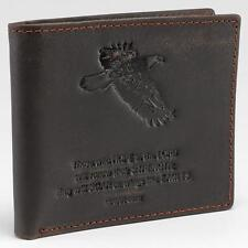 Wallet Genuine Leather- Wings Like Eagles, Isaiah 40:31 - Brown Bill Fold NEW!