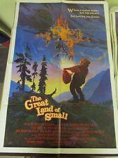 Vintage 1 sheet 27x41 Movie Poster The Great Land of Small 1987 Karen Elkin