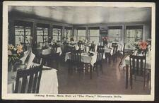 POSTCARD WISCONSIN DELLS WI THE PINES MAIN HALL DINING ROOM/INTERIOR 1910'S