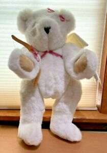 Vintage Vermont Teddy Bear with Tags - Cupid with Bow and Wings 1993-1994
