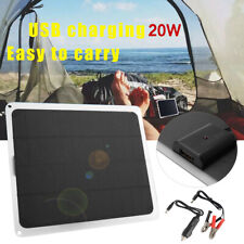 20w Solar Panel Trickle Battery Charger Power Supply Outdoor For Car Boat Yacht