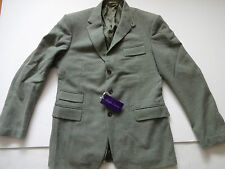 New Ralph Lauren Purple Label Sage Green 100% Wool Sport Coat Jacket Slim 44 L