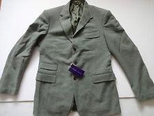 New Ralph Lauren Purple Label Sage Green 100% Wool Sport Coat Jacket Slim 44 L