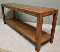 MCM HENREDON FINE FURNITURE 2 Tier Cane Wood Entryway Console Foyer Sofa Table