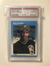 1987 Fleer Barry Bonds Rookie PSA 10 Gem Mint